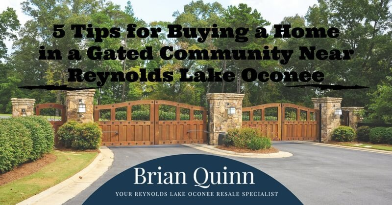 buying a home in a reynolds lake oconee gated community